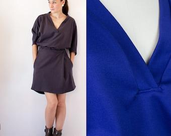 SALE Victoria Dress MEDIUM Royal Blue double-knit casual dress / Office wear / Fall fashion