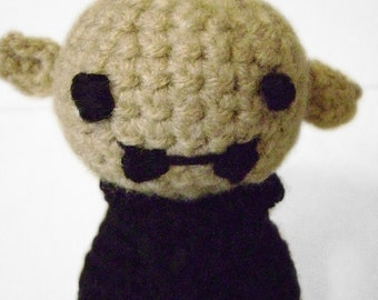 Cute Tiny Nosferatu Doll Goth Crocheted