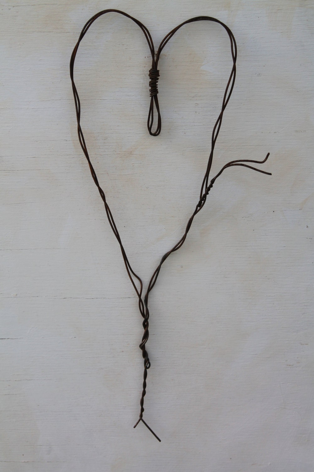 Used Baling Wire : Handmade wall heart made of baling wire