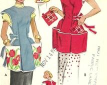 McCalls 1713 // Vintage 50s Sewing Pattern // Apron // Size Medium