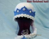 Princess Elsa Hat-Sizes Baby-Adult, INSTANT DOWNLOAD Crochet Pattern