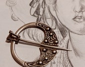 Robert Allison Scottish Sterling Cloak Kilt Brooch Pin Vintage Silver Penannular Clasp Iona Silversmith Celtic Revival