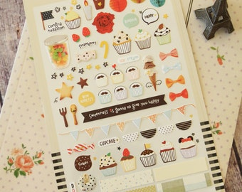 SWEET Suatelier cartoon & deco scrapbooking stickers