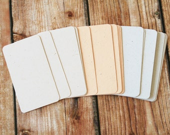 200pc Wild Animal Fibre POO Business Card Blanks