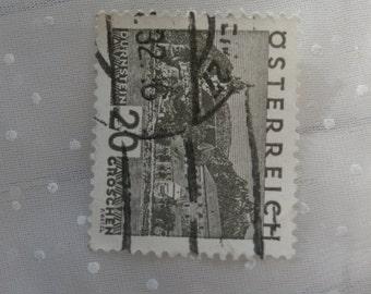 1930 Austria Osterreich View of Durnstein Stamp, Vintage, Used