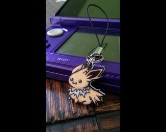 Jolteon Chibi Acrylic Phone Charm, Key Chain, or Necklace