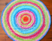 reserved for mycoop, rag rug Lilly Pulitzer inspired, round rug, handmade crochet rug, area rug, crochet rugs, nursery rug, made to order