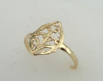 Filigree ring, Gold filled Ring,  flower Ring, Simple Ring, Gold Ring, 14k Gold Filled Ring , Delicate Ring, Birthday Gift, Gift For Her