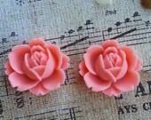 Flower Plugs Gauges Medium Size Wide Pink Roses