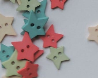 Star Buttons Assorted Citrus Color Package by Favorite Findings