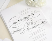 Marriage Wedding Invitations - Simple, Elegant Wedding Invitation - Deposit to Get Started