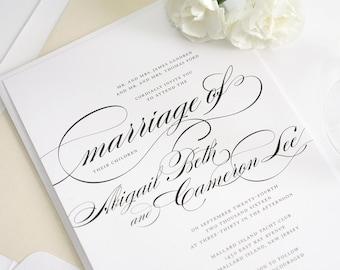 Marriage Wedding Invitations - Simple, Elegant Wedding Invitation - Deposit to Get Started