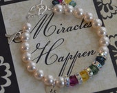 Exclusive Chromosome Disorder Awareness Bracelet With Hand Stamped Heart Charm