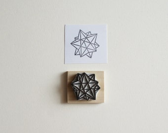 Sacred Geometry No. 3 - Hand Carved Rubber Stamp