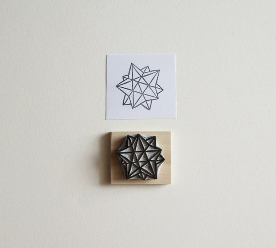 Sacred geometry no hand carved rubber stamp from
