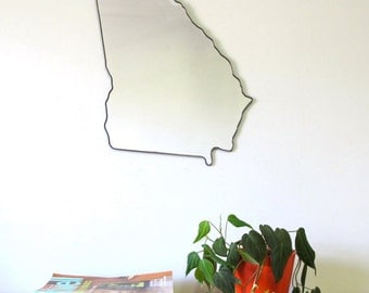 Georgia Mirror / Wall Mirror State Outline Silhouette GA Atlanta Shape Wall Art Modern Decor