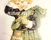 Maud Humphrey Scottish Boy in Kilt Downloadable Printable Digital Art Image Instant Download
