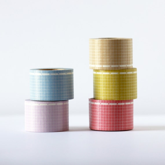 Wide Grid  Washi Tape -  Each Roll 30 mm x 10 m