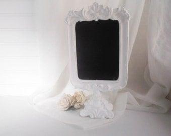 Chalkboard Frame White Pedestal Frame Farmhouse Decor Wedding Chalkboard