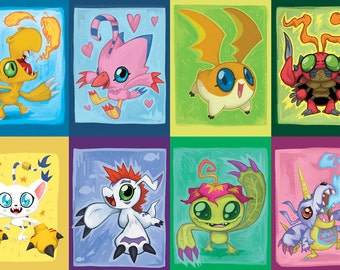 Digimon 1st Gen Miniprints