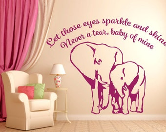 Baby of Mine Elephant Wall Graphic