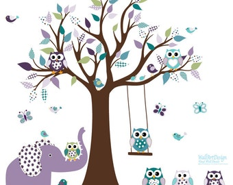 Vinyl Wall Decal  Children Wall decals,  Tree Wall  Decals, Girl Wall Decals, Vinyl Wall Decals