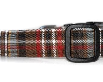 Tartan Dog Collar,,,,,,, Scott  , Authentic Scottish Tartan Dog Collar