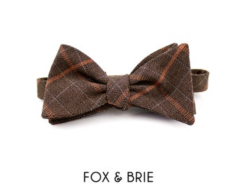 Professor Plaid Bow Tie