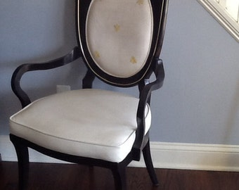 Master Craft Dining Chairs 6 / burled  under Black