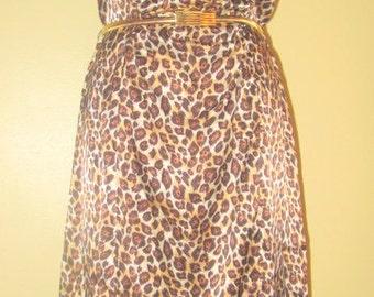 Leopard Slip Dress. Silky Leopard Dress.  Leopard Slip Dress. Animal Print Dress.  Slip Dress.