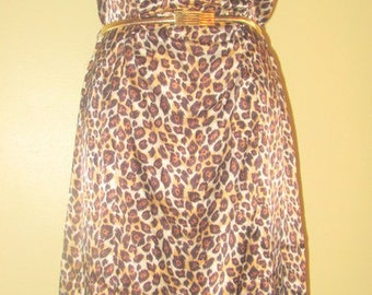 Leopard Dress. Silky Leopard Dress.  Leopard Slip Dress. Animal Print Dress.  Slip Dress.
