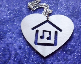 I Heart House Music Necklace