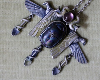 Egyptian Revival Necklace Art Deco 1920's