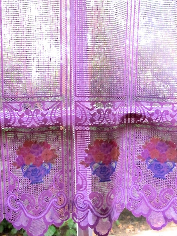 pastel purple curtains