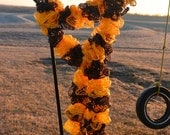 Gold and Black Ruffle Scarf