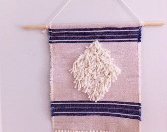Woven Wall Hanging - Diamond and Stripes