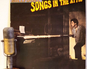 "ON SALE Billy Joel Vinyl Record Album 1970s Pop Piano Singer Songwriter LP ""Songs In The Attic:Live"") (Scarce Promo -1981 Cbs w/""She's Got A"