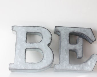 Small Galvanized Metal Letters Small Eat Letters  Etsy