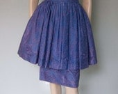 1950s Gigi Young Lace Cocktail Dress with Double Skirt - Peplum Style over Slim Skirt - Great Color