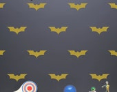 Bat Wall Stickers with Wallpaper or Wall Stencil Effect - Bat Decal - Baby Nursery Wall Decal - Bat Wall Decor - LSWP-AP0022NF