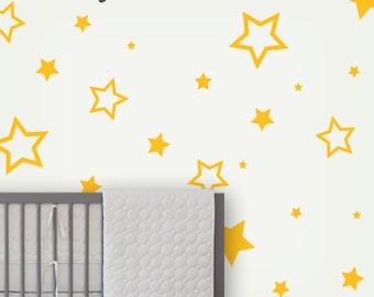 Star Children Wall Decals , Kids Wall Stickers , Star Decals , Baby Nursery Wall Decor , Kids Wall Decals , Star Wall Stickers - LSWD-0060-W
