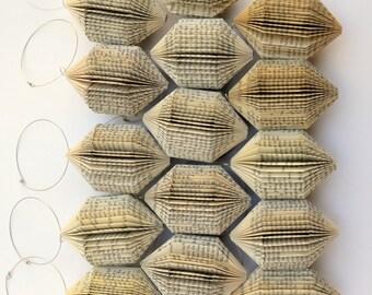 Diamond small - folded Book Art hanging Ornament