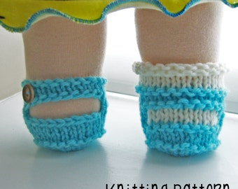 PATTERN Knitting Mary Jane Shoe - Bamboletta Clothes - Waldorf Doll Pattern