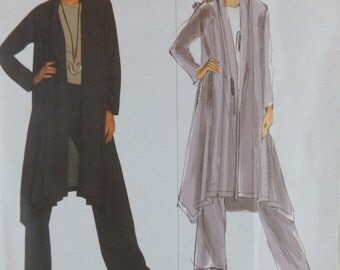 Issey Miyake Avant Garde Asymmetrical Jacket Shawl Collar and Pants Vogue Designer Original V1022 Uncut FF  Women's Sewing Pattern
