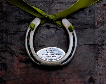 The Love . Faith . Hope Horseshoe. CUSTOM and Personalized for Your Home. The Handmade Original Design by Sycamore Hill. Home Sweet Home.