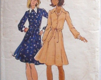 Women's Semi Fitted and Flared Dress Sewing Pattern - Butterick 3264 - Size 14, Bust 36 - Back Neck Facing Missing