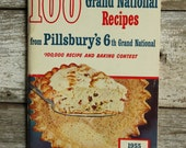 1955 Pillsbury's 100 Grand National Recipe book
