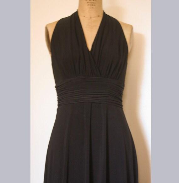 Black Formal Sleevless Dress by KleinDesignVintage on Etsy