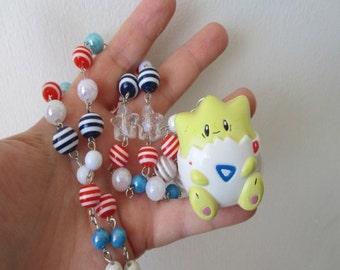"""SALE - Pokémon Necklace - tOGEPI """"Locket"""" Figure Necklace - Decora, Kawaii"""
