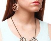 FLORA leather earrings